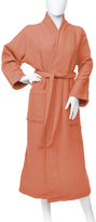 Coral Cotton Terry Waffle-Weave Robe - Adult
