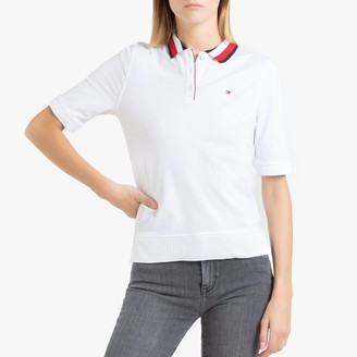 Tommy Hilfiger Cotton Short-Sleeved Polo Shirt with Signature Collar