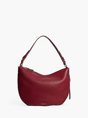 d49721f87ad Karen Millen Leather Slouch Shoulder Bag, Red