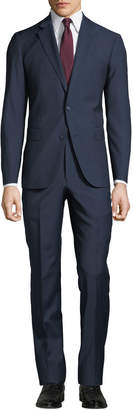Neiman Marcus Men's Pin-Dot Bow Weave Two-Piece Suit, Blue