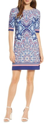 Eliza J Border Print Dress