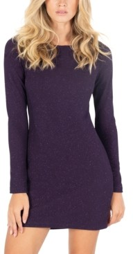 Speechless Juniors' Glitter-Knit Bodycon Dress, Created for Macy's