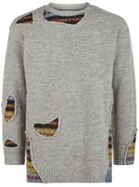 Miharayasuhiro Destroyed Fair Isle Jumper