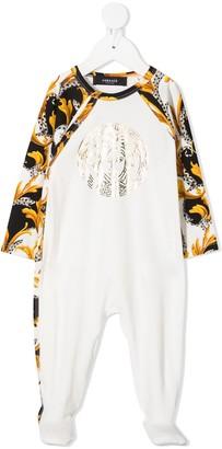 Versace Acanthus-print panelled pajama