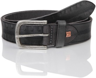 The Art of Belt by LINDENMANN Mens leather belt/Mens belt full grain leather belt buffalo leather Unisex black Groe/Size:95;Farbe/Color:black