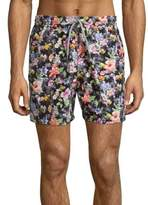 Saks Fifth Avenue Floral-Print Swim Trunks