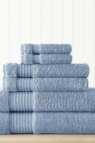 Amrapur 6-Piece Turkish Cotton Towel Set - Denim