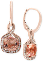 Effy Blush by Morganite (2-3/8 ct. t.w.) and Diamond (1/5 ct. t.w.) Drop Earrings in 14k Rose Gold