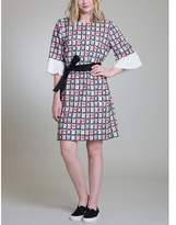 Vivienne Tam Mahjong Ruffle Dress.