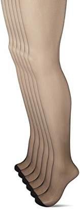 Dim Women's COLLANT Voile MES ESSENTIELS DE 4+2 Tights, 15 DEN,S (Sizes:1) (Pack of 6