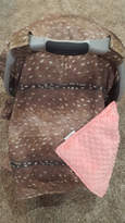 Etsy Carseat Tent - Deer Skin Cotton Carseat Canopy, Tent, Woodland