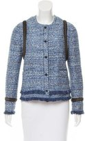 Joseph Chain-Trimmed Tweed Jacket