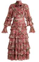 Gucci Ruffled silk-georgette gown