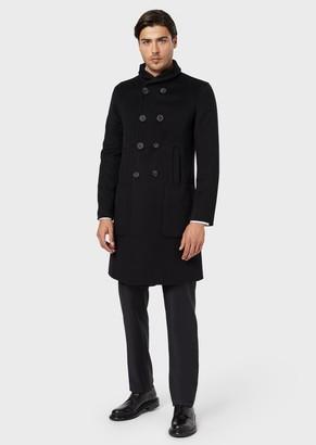 Giorgio Armani Double-Breasted Coat In Double Cashmere