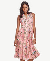 Ann Taylor Floral Pleated Midi Dress