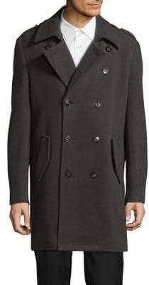 Calvin Klein X-Slim Fit Wool-Blend Peacoat