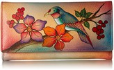 Anuschka Anna By Anna by Hand Painted Leather | Checkbook Wallet/Clutch | Bird on Branch