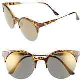 A. J. Morgan Women's A.j. Morgan 56Mm 'Pip' Cat Eye Sunglasses - Tortoise/ Mirror