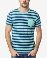Buffalo David Bitton Men's Striped Front Pocket T-Shirt