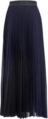 Victoria Victoria Beckham Victoria, Victoria Beckham Pleated Chiffon Two-Tone Skirt