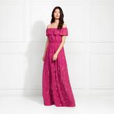 Rachel Zoe Clea Off-The-Shoulder Fil Coupe Maxi Dress