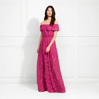 Rachel Zoe Clea Off-The-Shoulder Fil Coupe Maxi Dress