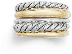 David Yurman Pure Form Wide Ring w/ 18k Gold