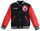 Disney Minnie Mouse Varsity Jacket for Girls - Red - Personalizable