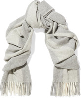 Acne Studios Canada Bengal Fringed Striped Wool Scarf - Ivory