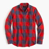 J.Crew Boy shirt in fiery sunset buffalo check