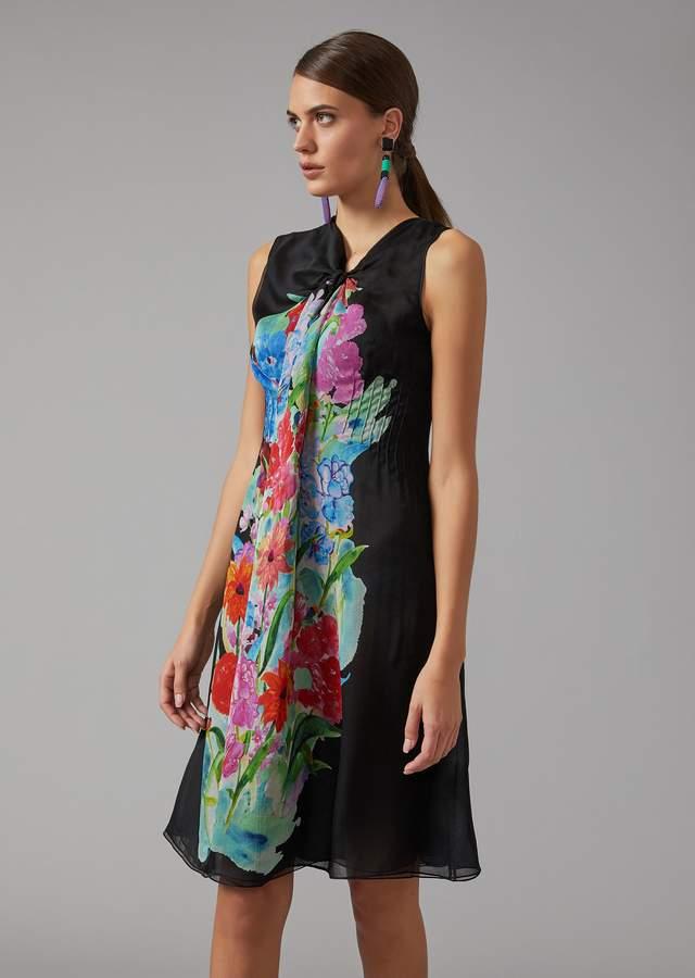 Giorgio Armani Silk Crepe Dress