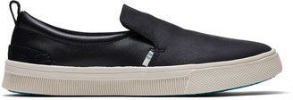 Toms Black Leather TRVL Lite Women's Slip-Ons