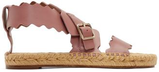 Chloé Pink Lauren Espadrille Sandals