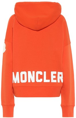 Moncler Logo cotton-blend jersey hoodie