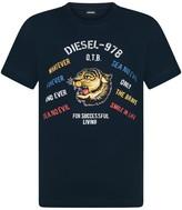 Diesel Boys Navy Tiger Print Tavi Top
