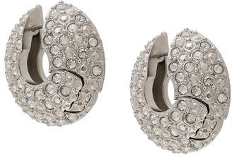 Fenty by Rihanna Crystal Embellished Hinged Hoop Earrings