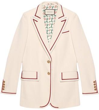 Gucci Contrast Trim Blazer