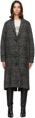 Etoile Isabel Marant Black and White Elayo Coat
