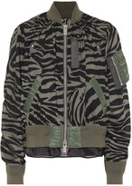 Sacai Zebra-print bomber jacket