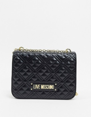 Love Moschino quilted shoulder bag-Black