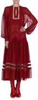 Fendi Chiffon Drop-Shoulder Midi Dress