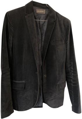 Zadig & Voltaire Grey Velvet Jacket for Women
