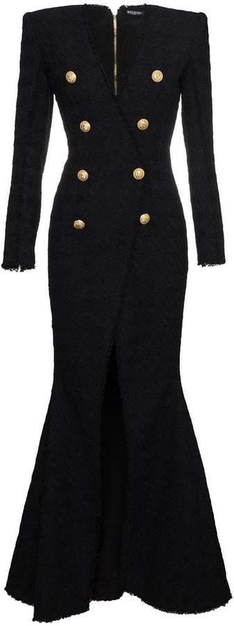 298efdd4d16079 Balmain Long Sleeve Dresses - ShopStyle
