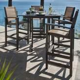 Polywood Coastal 5 Piece Bar Height Dining Set