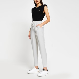 River Island Womens Grey Tapered Trouser