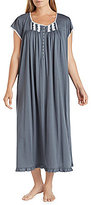 Eileen West Plus Lace-Trimmed Jersey Ballet Nightgown