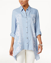 Style&Co. Style & Co Petite Paisley Bandana Shirt, Only at Macy's