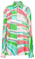 Emilio Pucci Printed Silk Satin-twill Shirt