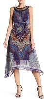Sandra Darren Beaded Neck Printed Maxi Dress