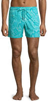 Vilebrequin Men's Hypnotic Turtles Graphic Swim Trunks